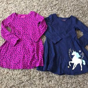 3/$20* 2 cat & jack long sleeve dresses xs